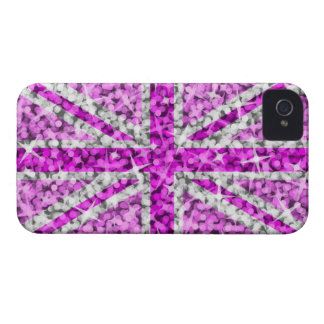 'Sparkle' UK Pink BlackBerry Bold barely there iPhone 4 Case