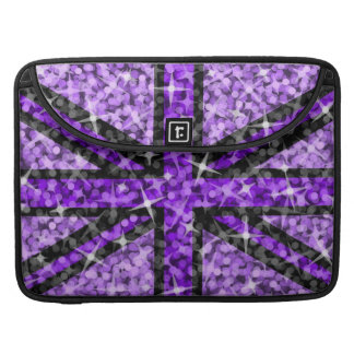 "'Sparkle' UK Purple Black Macbook Pro 15"" sleeve MacBook Pro Sleeves"