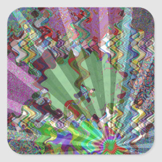 Sparkle Wave Light ReflectionsTemplate DIY gifts Square Sticker