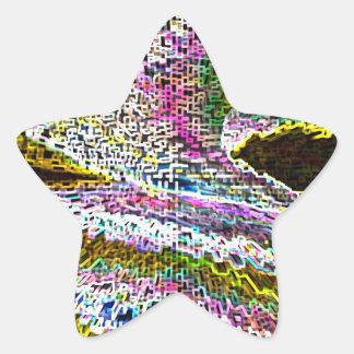 Sparkle Waves Star Sticker