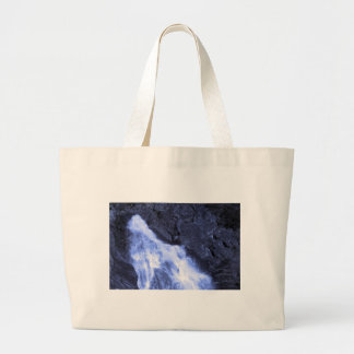 Sparkle white jet flow water from Holy River Ganga Canvas Bags
