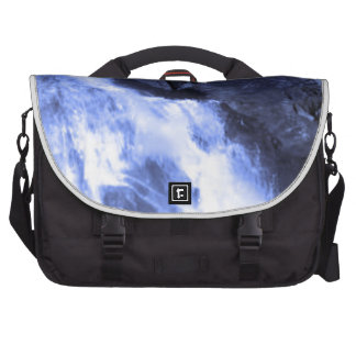 Sparkle white jet flow water from Holy River Ganga Bag For Laptop