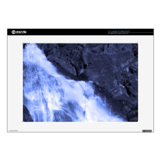 """Sparkle white jet flow water from Holy River Ganga 15"""" Laptop Decals"""