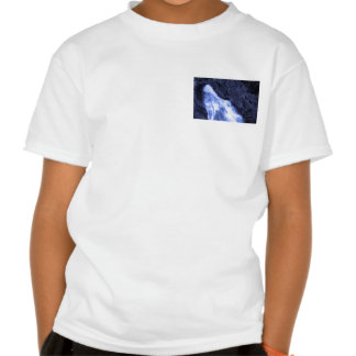 Sparkle white jet flow water from Holy River Ganga T Shirts