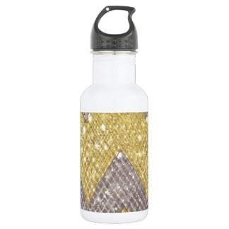sparkle zig zag stainless steel water bottle