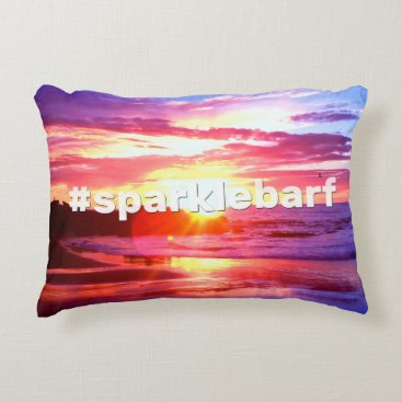 Beach Themed Sparklebarf Decorative Pillow
