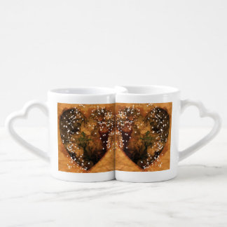 Sparkled Heart Art Couples' Coffee / Tea Mug Set