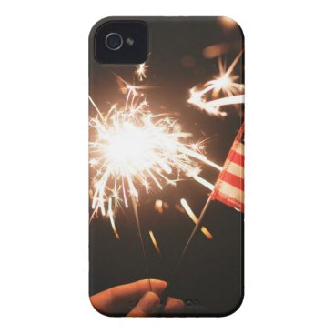 USA Themed Sparkler & Flag iPhone 4 Cover