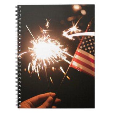 giftsnerd Sparkler & Flag Notebook