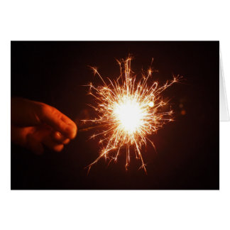 Sparkler Fourth of July Card