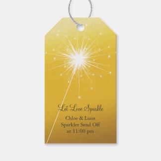 Sparkler Gold Gift Tag