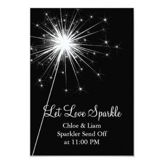 Sparkler Holder (black) 3.5x5 Paper Invitation Card