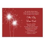 Sparkler in Red Wedding Invitation