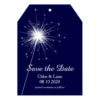 Sparkler Save the Date Card