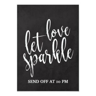 Sparkler Send Off  Affordable Chalkboard Sign Card