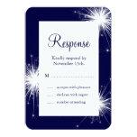 Sparkler Wedding RSVP 2 Card