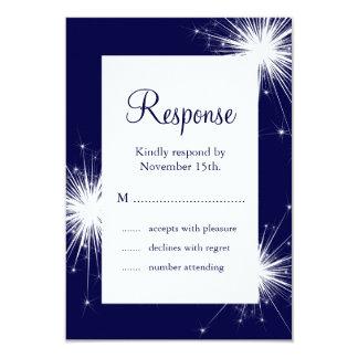 Sparkler Wedding RSVP (blue) Custom Announcements