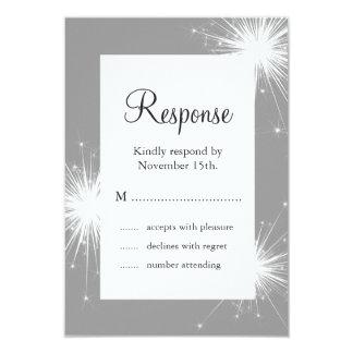 Sparkler Wedding RSVP (gray) Custom Invite