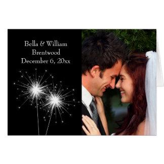 Sparkler Wedding Thank You Card