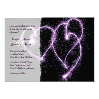 Sparklers de los corazones de la púrpura dos que c