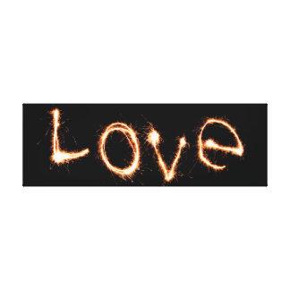 Sparklers Love Canvas Print