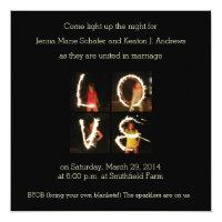 Sparklers LOVE Wedding or Party Invitation