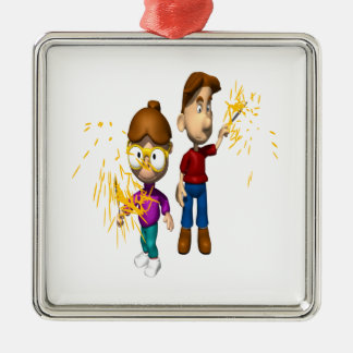 Sparklers Christmas Ornament