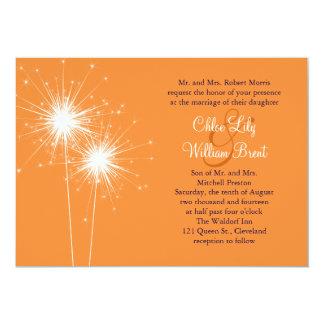 "Sparklers Wedding Invitation 5"" X 7"" Invitation Card"