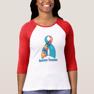 Sparkles Autism teacher #2Sleeve Raglan (Fitted) T-Shirt