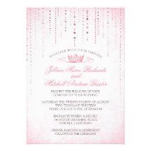 Sparkles & Crown Fairytale Wedding Invitation
