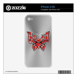 Sparkles & Glitter butterfly iPhone 4/4S skin iPhone 4S Decal