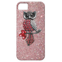 Sparkles & Glitter owl iPhone 5 case