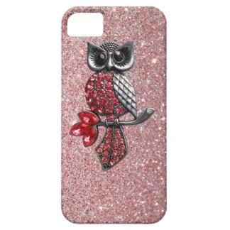 Sparkles & Glitter owl iPhone 5 case