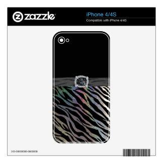Sparkles & Glitter zebra print iPhone 4/4S skin iPhone 4 Decals