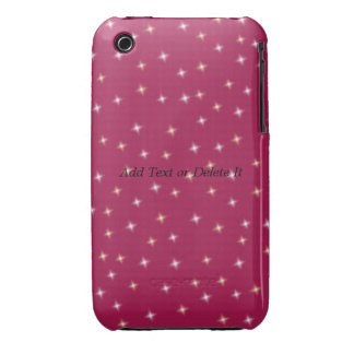 Sparkles on pink iphone 3G/GS case mate iPhone 3 Cases