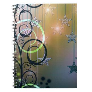 Sparkles Swirls and Stars Spiral Notebooks