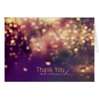 Sparkles Thank You Card
