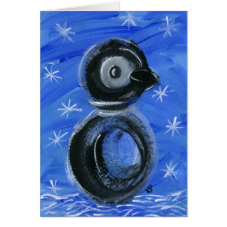 Sparkles the Penguin Greeting Card