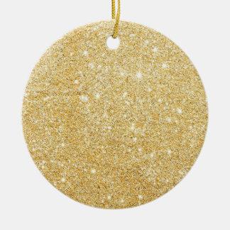 Sparkley Golden Stylish Ceramic Ornament