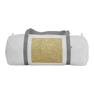 Sparkley Golden Stylish Duffle Bag