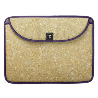 Sparkley Golden Stylish Glitter MacBook Pro Sleeve