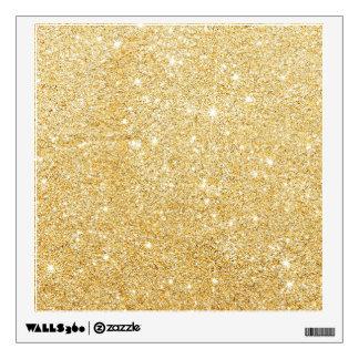 Sparkley Golden Stylish Glitter Wall Sticker