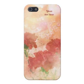 Sparkliing Carnations Case For iPhone SE/5/5s