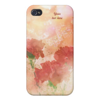 Sparkliing Carnations iPhone 4 Cases