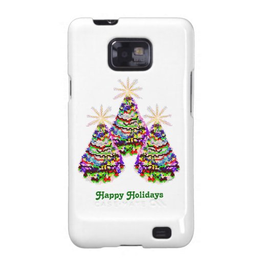 Sparkling Abstract Christmas Trees Design Galaxy S2 Cover