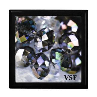 Sparkling Beads initial keepsake jewelry gift box