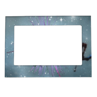 Sparkling Bee with Stars Magnetic Photo Frame