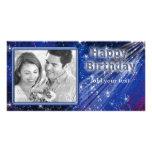 Sparkling Birthday Design Photo Greeting Card
