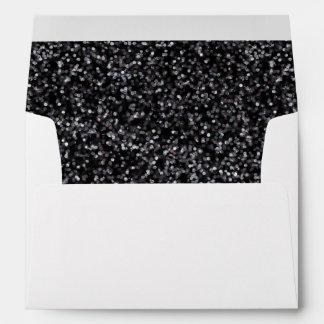 Sparkling Black Glitter Envelope