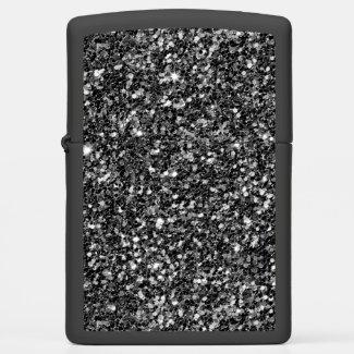 Sparkling Black Glitter
